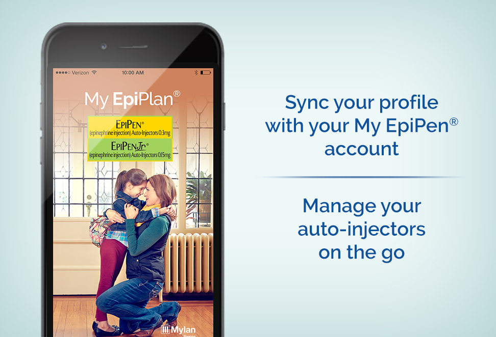 Sync your profile with your My EpiPen® account | Manage your auto-injectors on the go