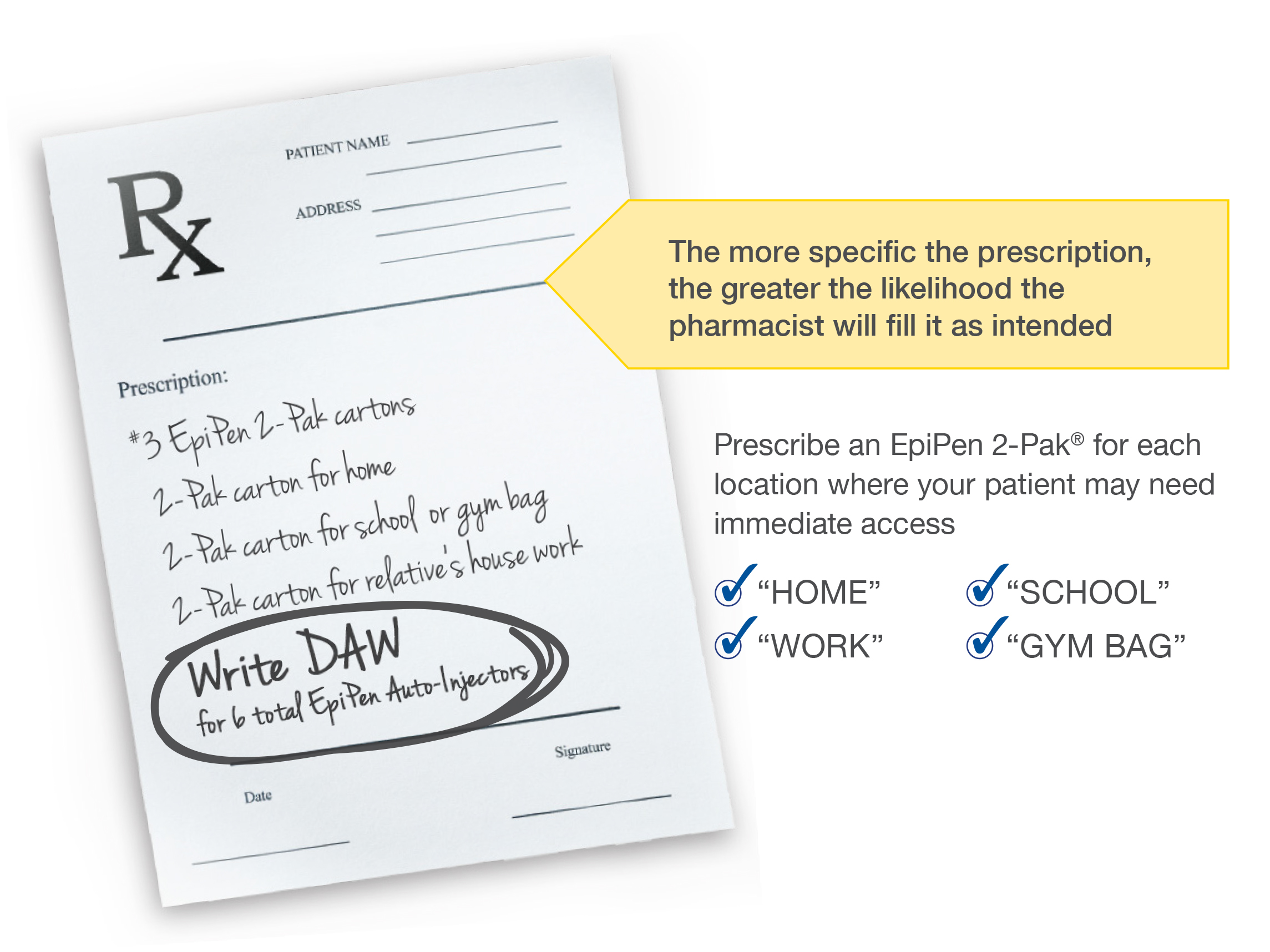 Learn more about prescribing the Epipen® (epinephrine injection, USP) Auto-Injector.